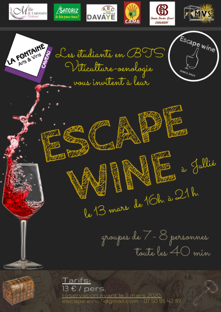 Affiche Escape Wine