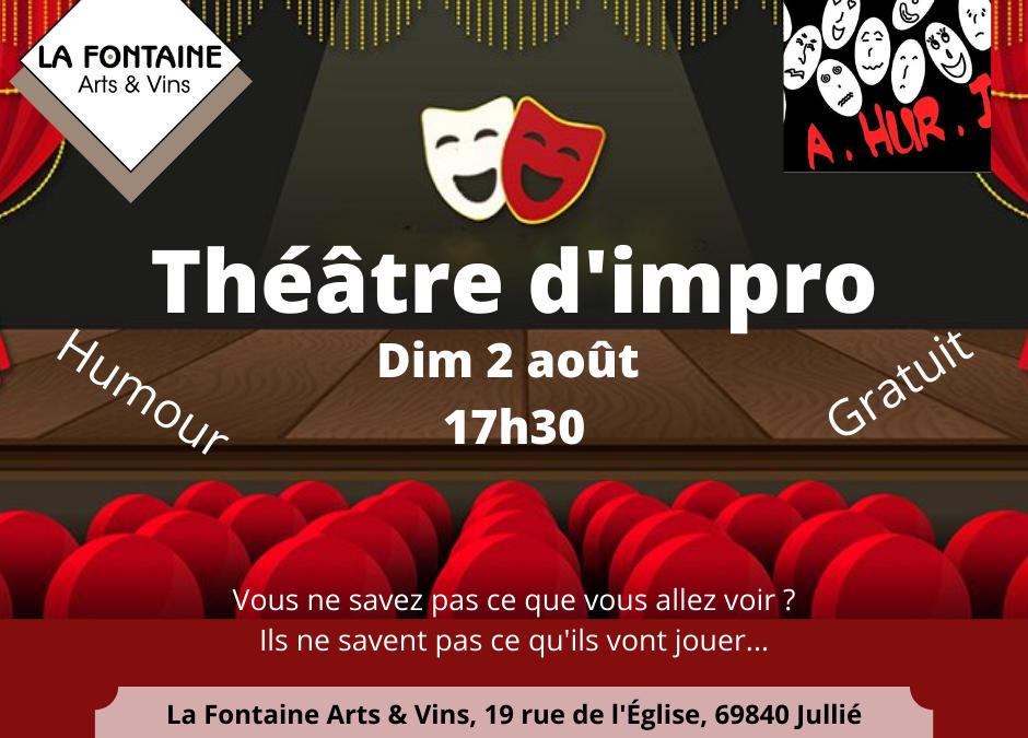 Dim 2 août 17h30 : spectacle d'humour / théâtre d'impro