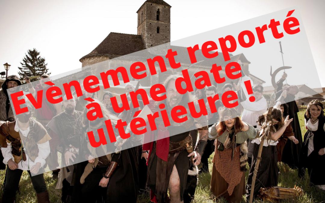 – REPORTÉ – Dim 4 oct 14h à 19h : après-midi médiéval