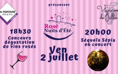 Rosé Nuit d'Eté : Dégustation et concert !